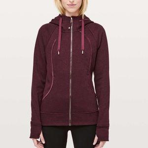 Lululemon scuba hoodie plush Heathered dark Adobe SZ 6 burgundy special edition